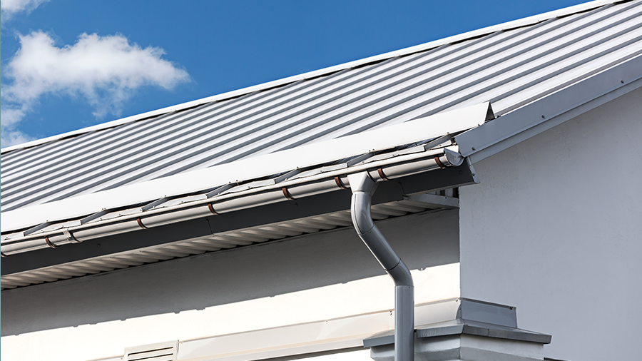 Metal roofing and guttering